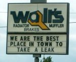Funny Radiator Shop Sign