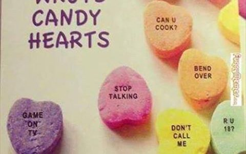 Male Made Candy Hearts