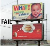 Eggs fail sign