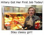 Hillary Got A Job Today