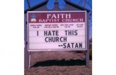 I Hate This Church funny sign image
