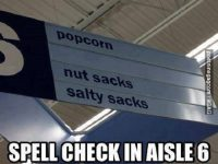 Spell check Aisle 6 image