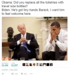 Travel Size Bottles obama biden meme