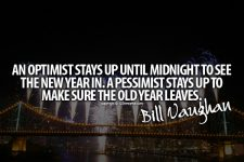 An Optimist vs Pessimist New Year