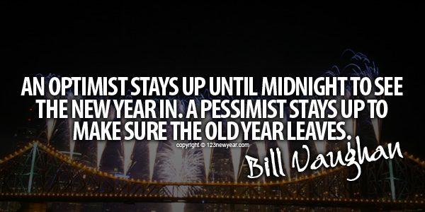 An Optimist vs Pessimist New Year