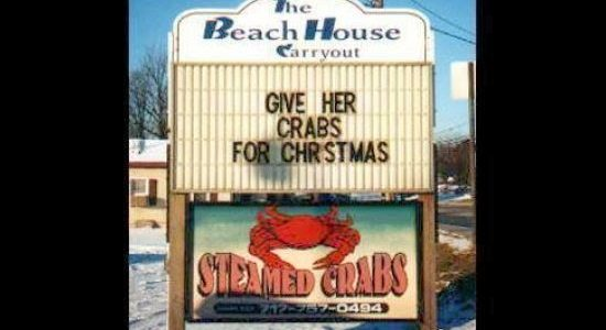 Give Her Crabs For Christmas