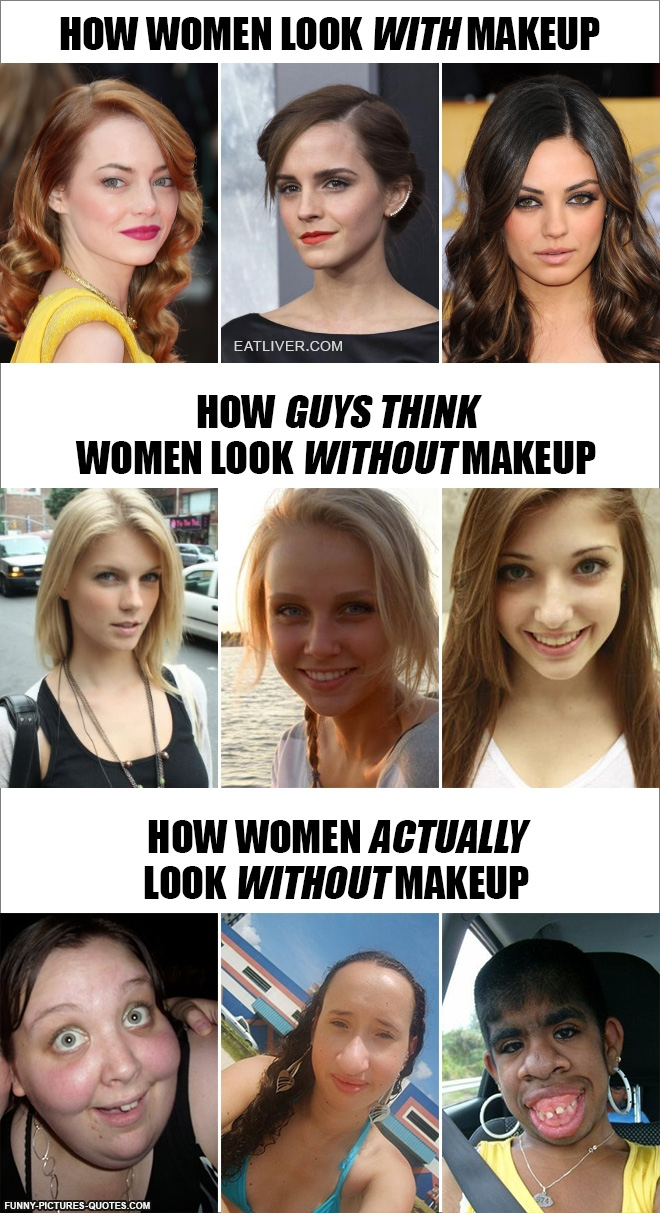 How Women Look without Makeup image