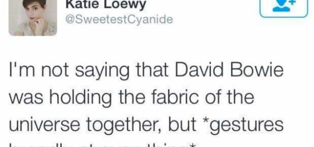 Was David Bowie The Glue?
