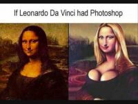 If Leonardo Had Photoshop funny picture