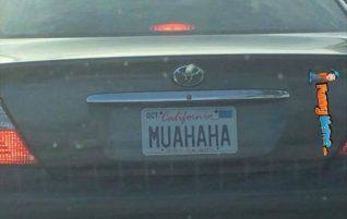 Muahaha License Plate
