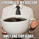 One Cup A Day Image from sister site Delightful Coffee