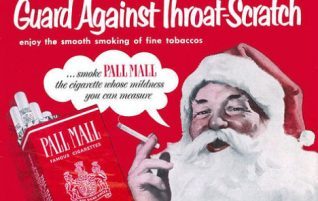 Santa Smokes Pall Mall
