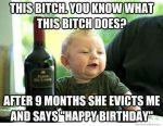 Drunk Baby Happy Birthday