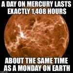 Mercury Day Like Monday