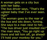 Woman Bus Baby joke image