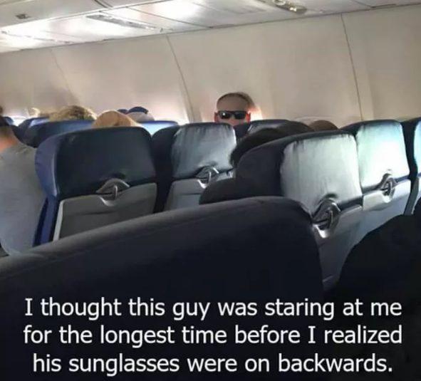 Plane Staring guy