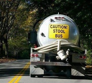 Funny Septic Truck Sign Stool Bus