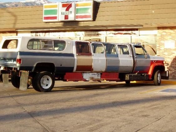 Redneck Party Limo image in front of a 7-11