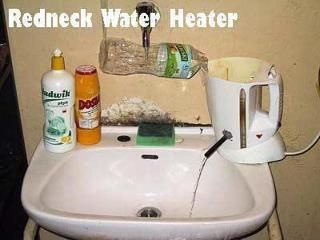 Redneck Water Heater